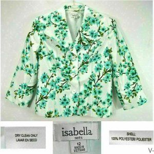 Isabella Womens 12 Lined Jacket Floral Polyester